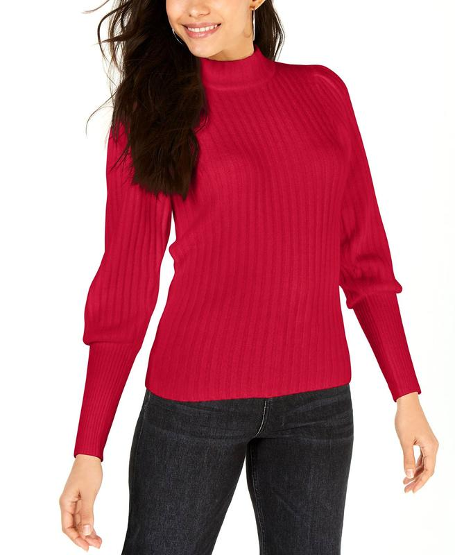 Yieldings Discount Clothing Store's Turtleneck Sweater by Leyden in Red