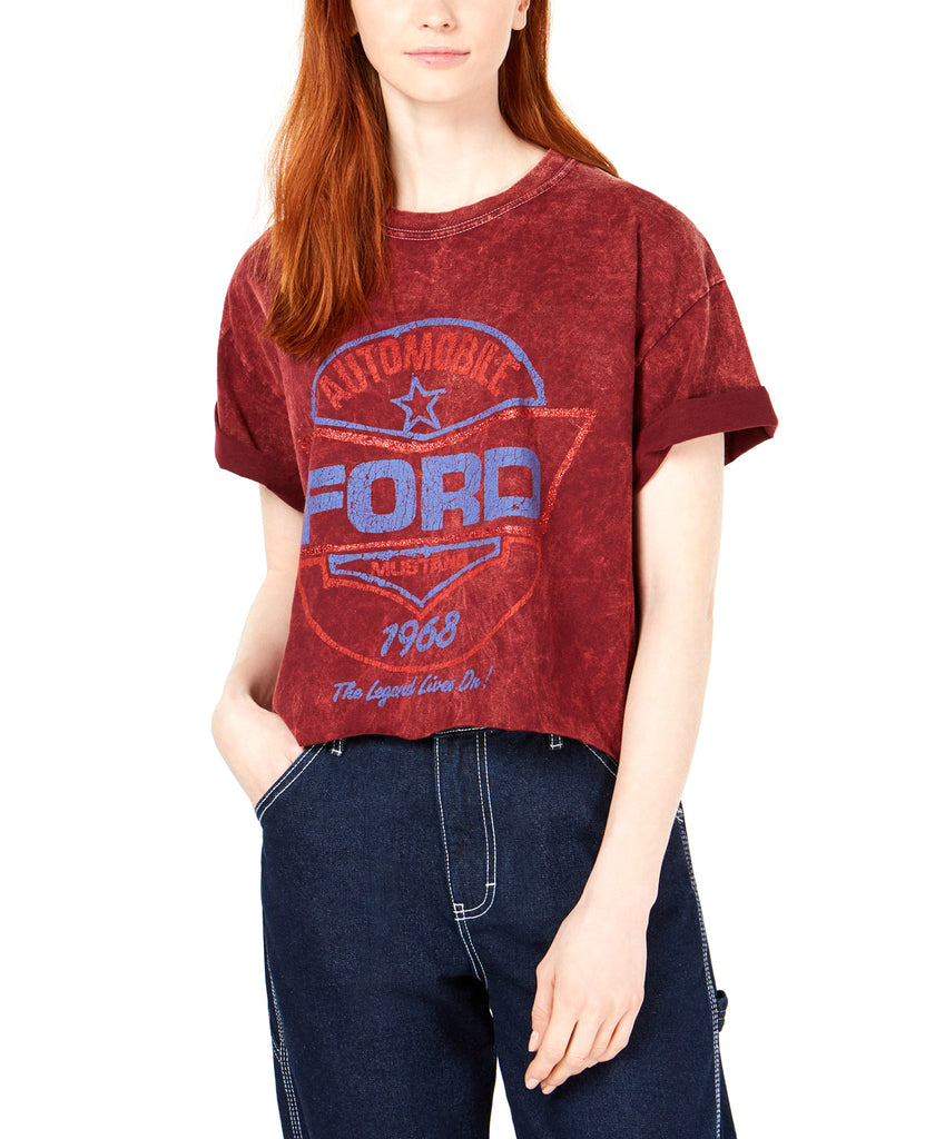 Yieldings Discount Clothing Store's Ford Mustang Graphic T-Shirt by True Vintage in Zinfandel