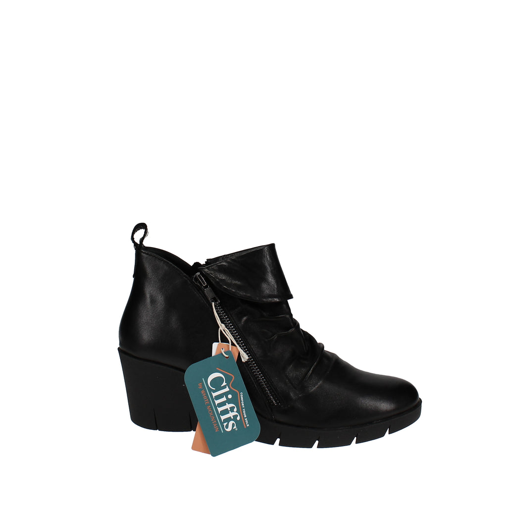 Yieldings Discount Shoes Store's Penwood Booties by Cliffs By White Mountain in Black