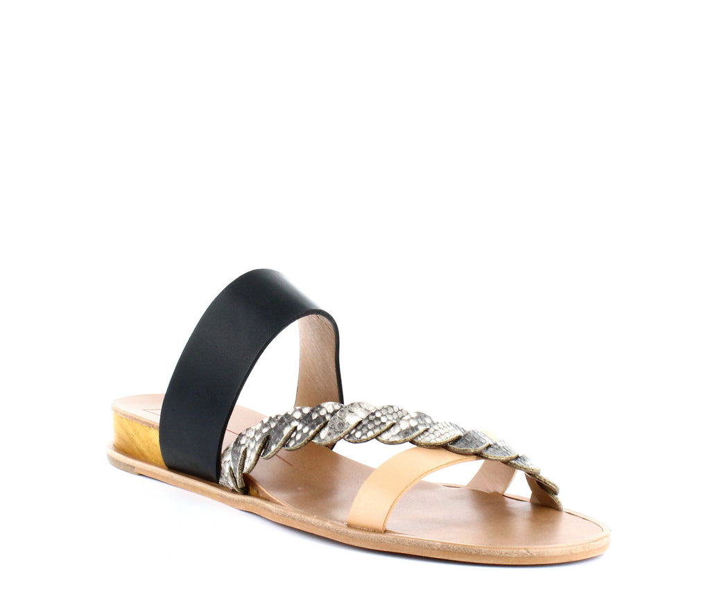 Yieldings Discount Shoes Store's Penelope Flat Sandals by Dolce Vita in Snake Print