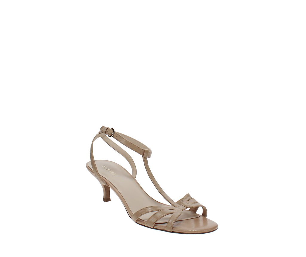Yieldings Discount Shoes Store's Odarlin Strappy Sandals by Nine West in Light Natural