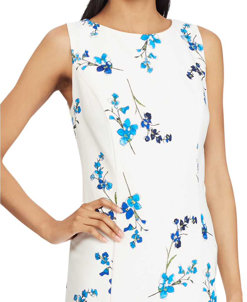 Yieldings Discount Clothing Store's Floral-Print Dress by American Living in Cream/Cobalt