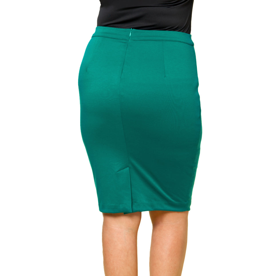Yieldings Discount Clothing Store's Priscilla Knit Pencil Skirt by Kiyonna in JAD