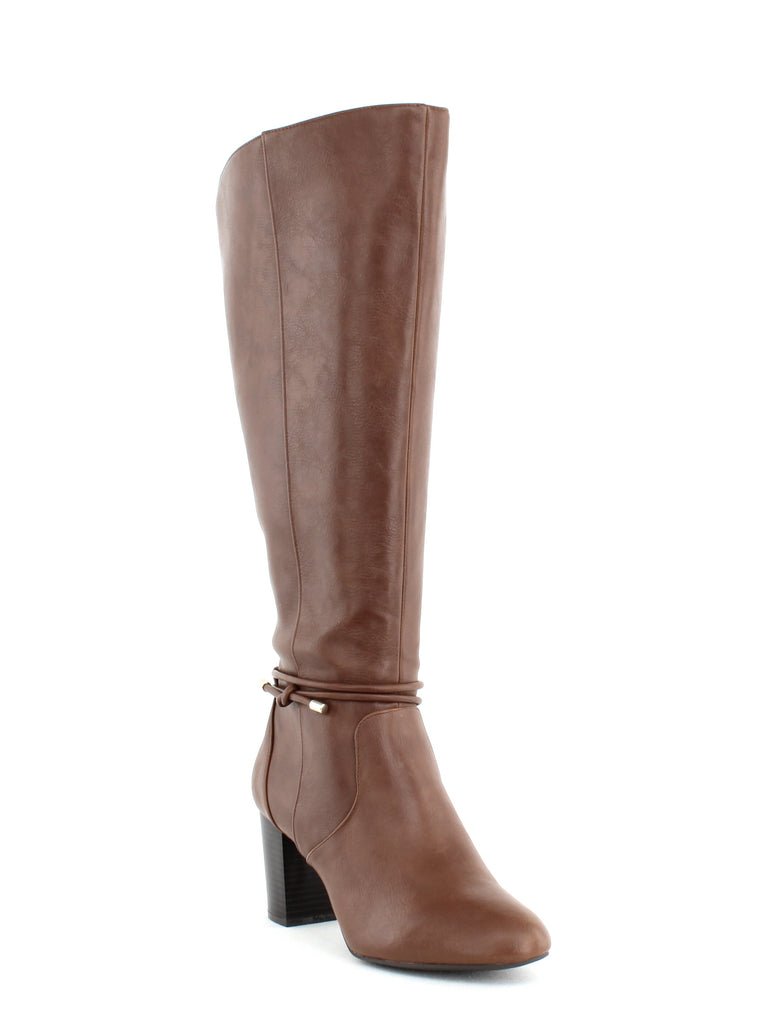 Yieldings Discount Shoes Store's Giliann Dress Boots by Alfani in Cognac