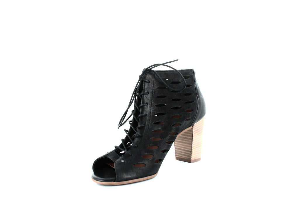 Yieldings Discount Shoes Store's Catalina Lace-Up Sandals by Paul Green in Black