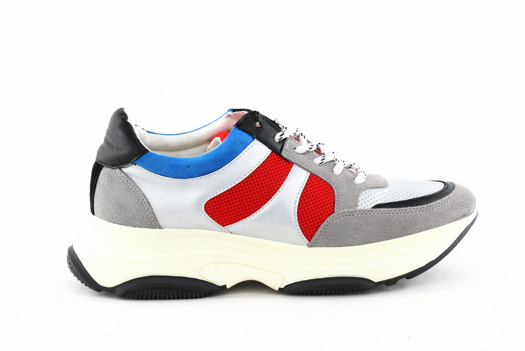 Yieldings Discount Shoes Store's Ike Lace-Up Sneakers by Aqua in Multi