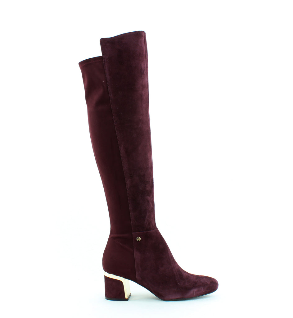 Yieldings Discount Shoes Store's Cora Knee High Boots by DKNY in Burgundy