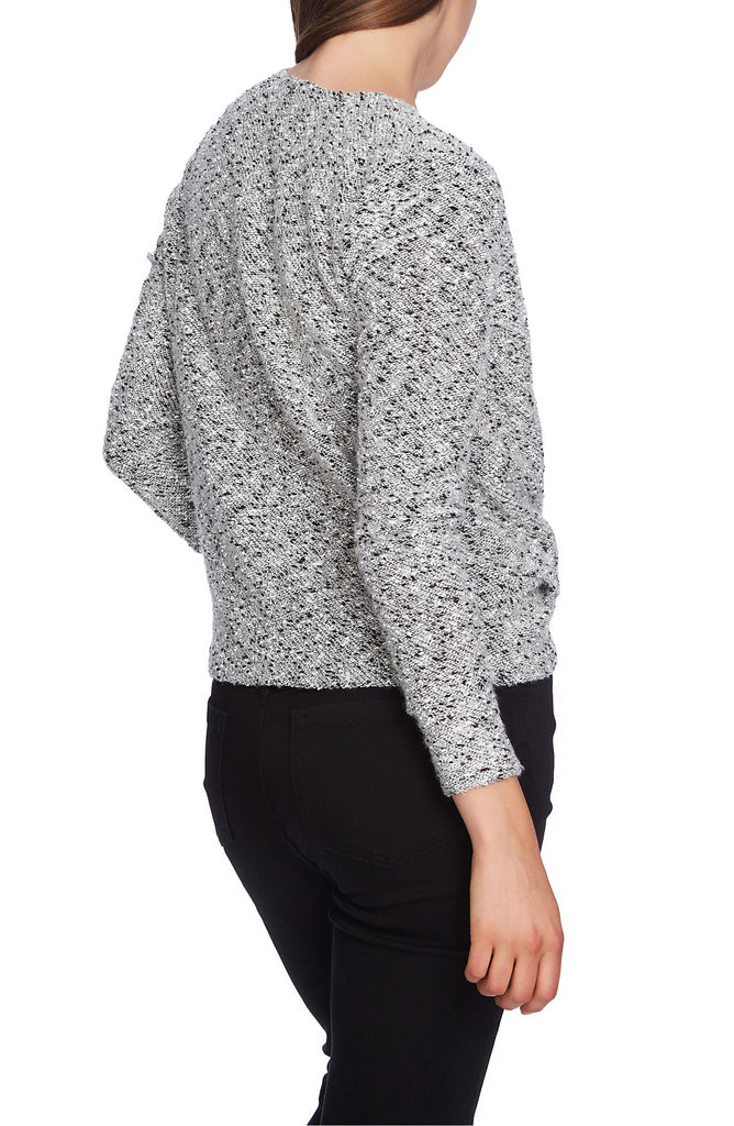 Yieldings Discount Clothing Store's Boucle Crossover Top by 1.State in Soft Ecru