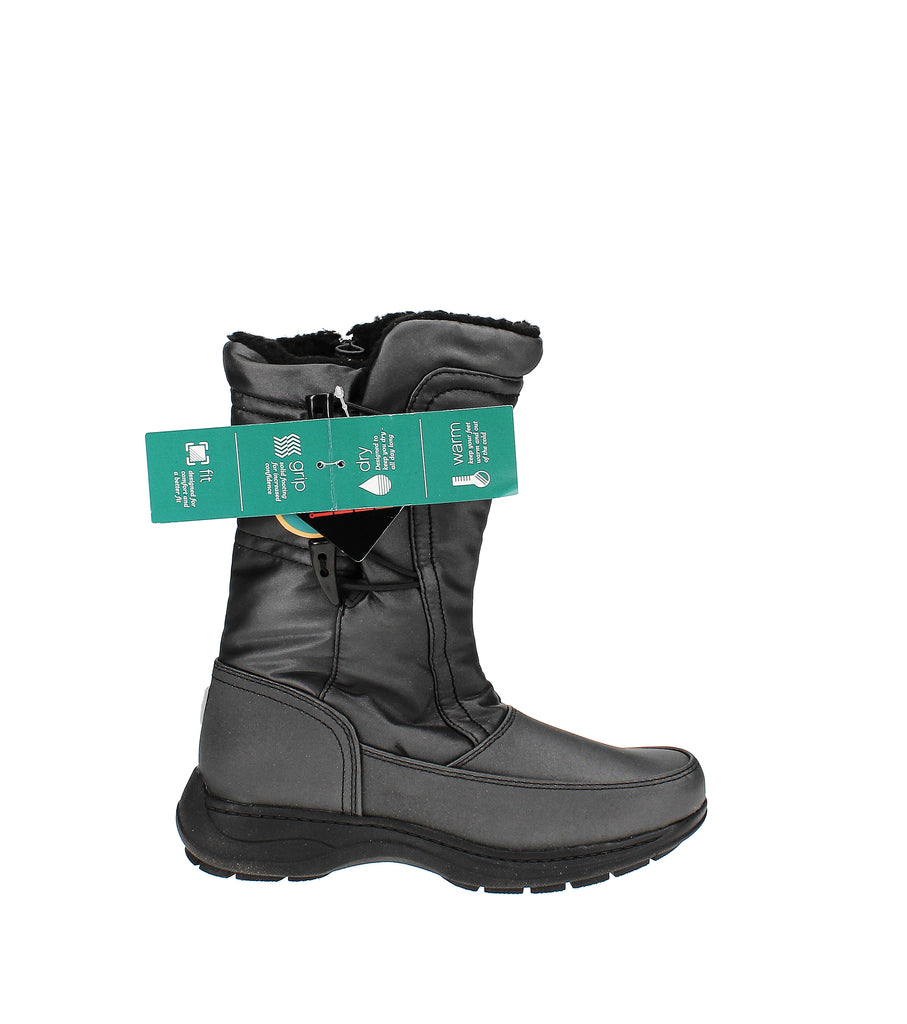 Yieldings Discount Shoes Store's Dana Closed Toe Mid-Calf Cold Weather Boots by Sporto in Dark Pewter