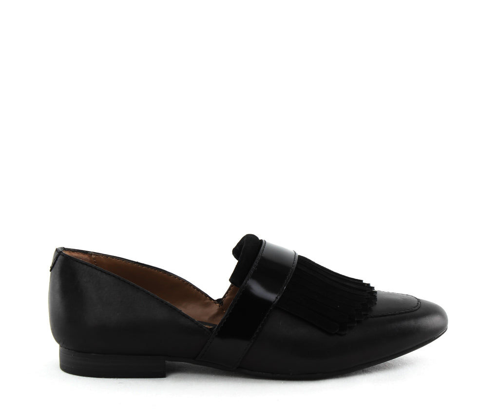 Yieldings Discount Shoes Store's Harlow Cutout Loafers by G.H. Bass & Co. in Black