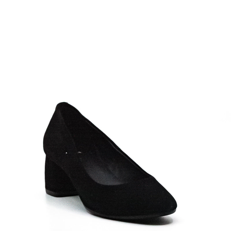 Yieldings Discount Shoes Store's Beverly Suede Block Heel Pumps by Kate Spade in Black