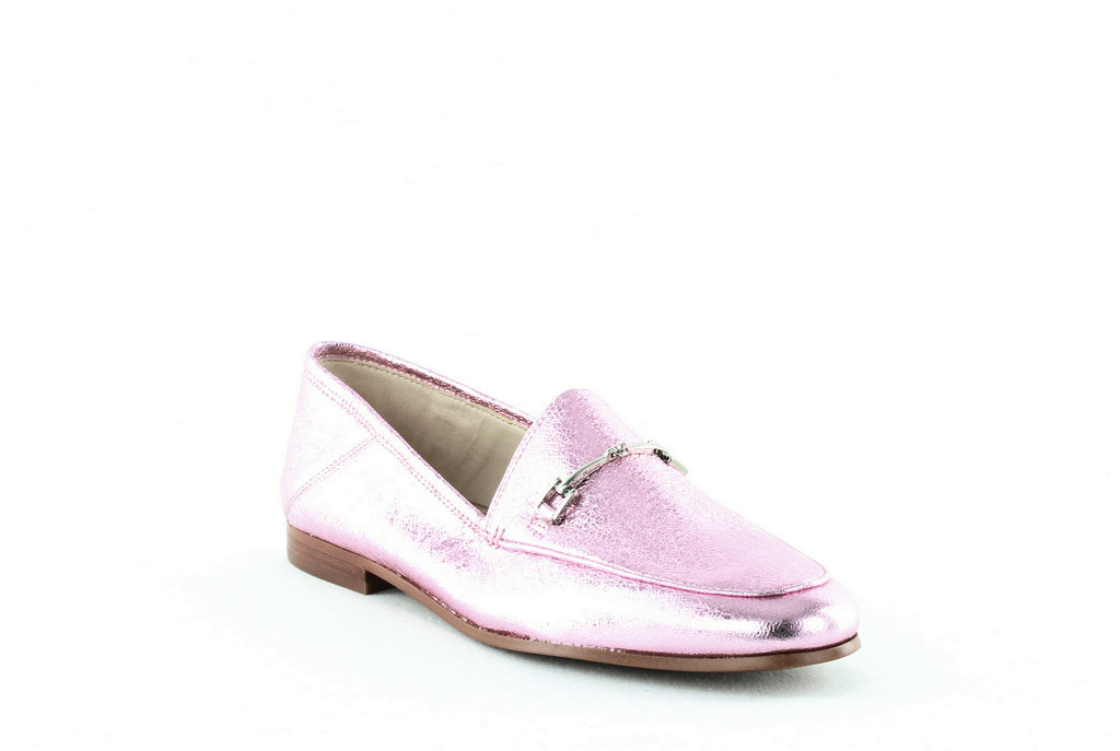 Yieldings Discount Shoes Store's Loraine Loafers by Sam Edelman in Lavender Crinkled Metallic Leather