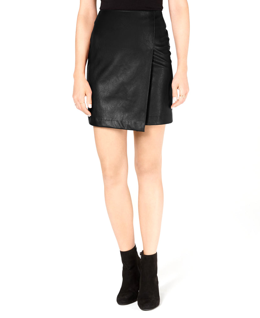 Bar III | Faux-Leather Skirt