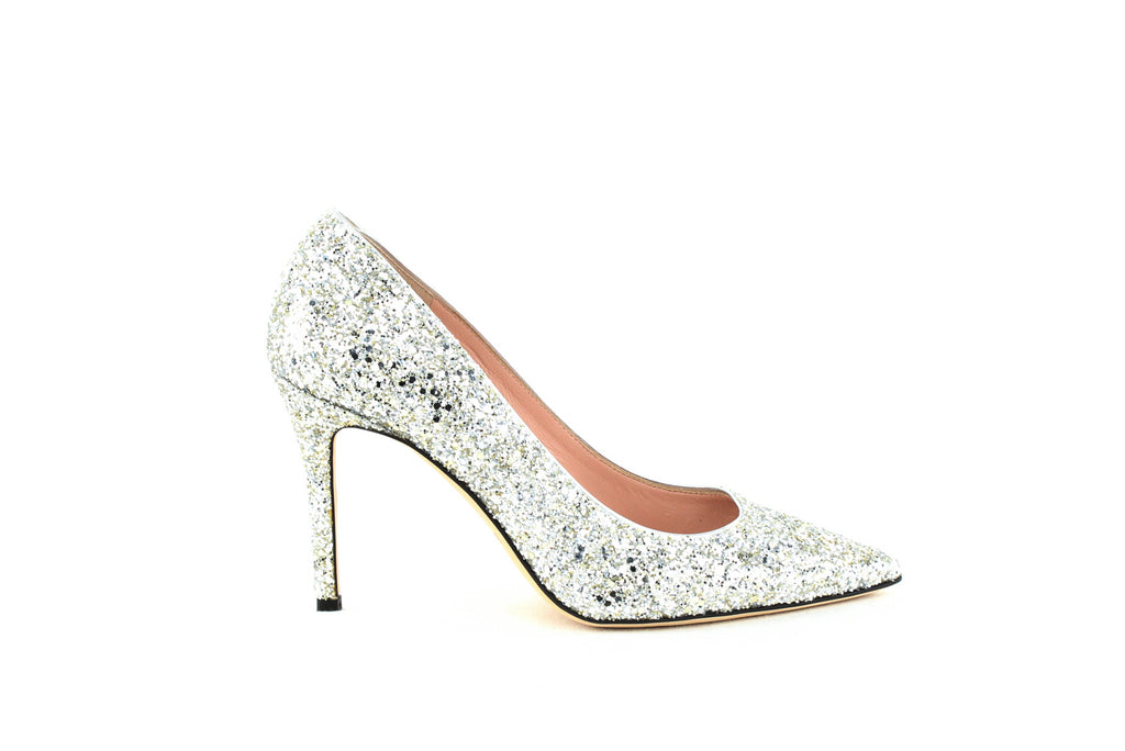 Yieldings Discount Shoes Store's Vivian Pumps by Kate Spade in Silver/Gold