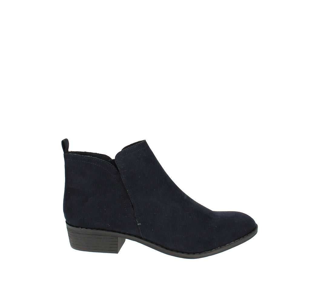Yieldings Discount Shoes Store's Cadee Ankle Booties by American Rag in Navy