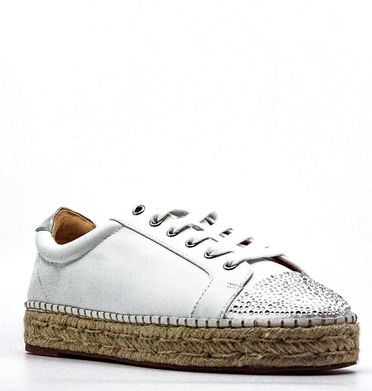 Yieldings Discount Shoes Store's Eliza Platform Sneakers by INC in White