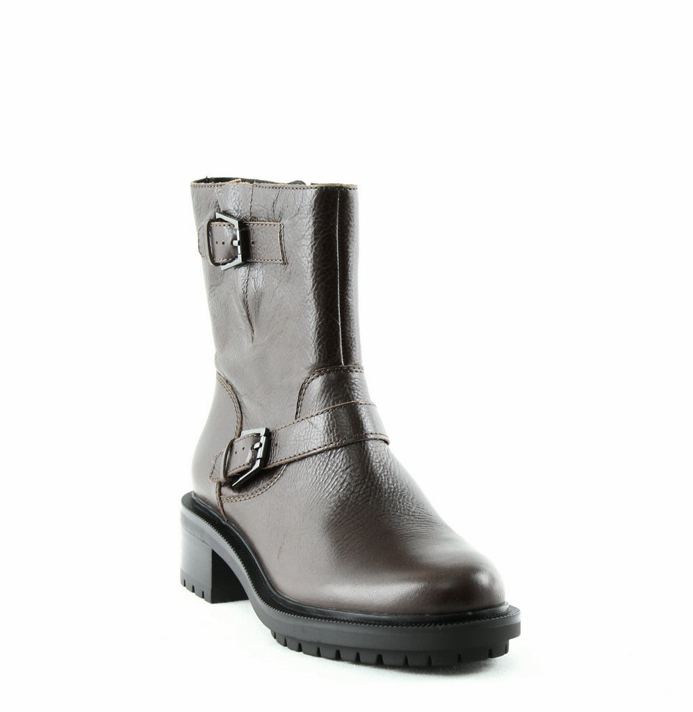 Yieldings Discount Shoes Store's Marlow Leather Moto Boots by Botkier in Olive