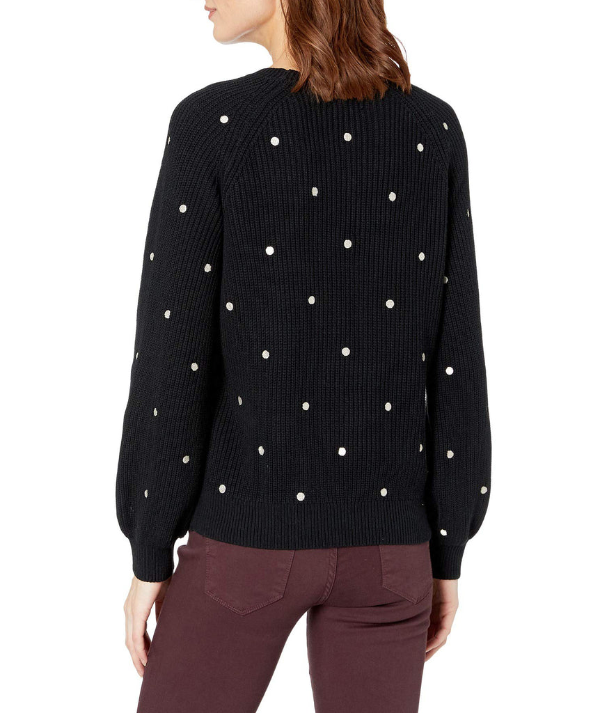 Yieldings Discount Clothing Store's Polka Dot Pullover Sweater by Lucky Brand in Black