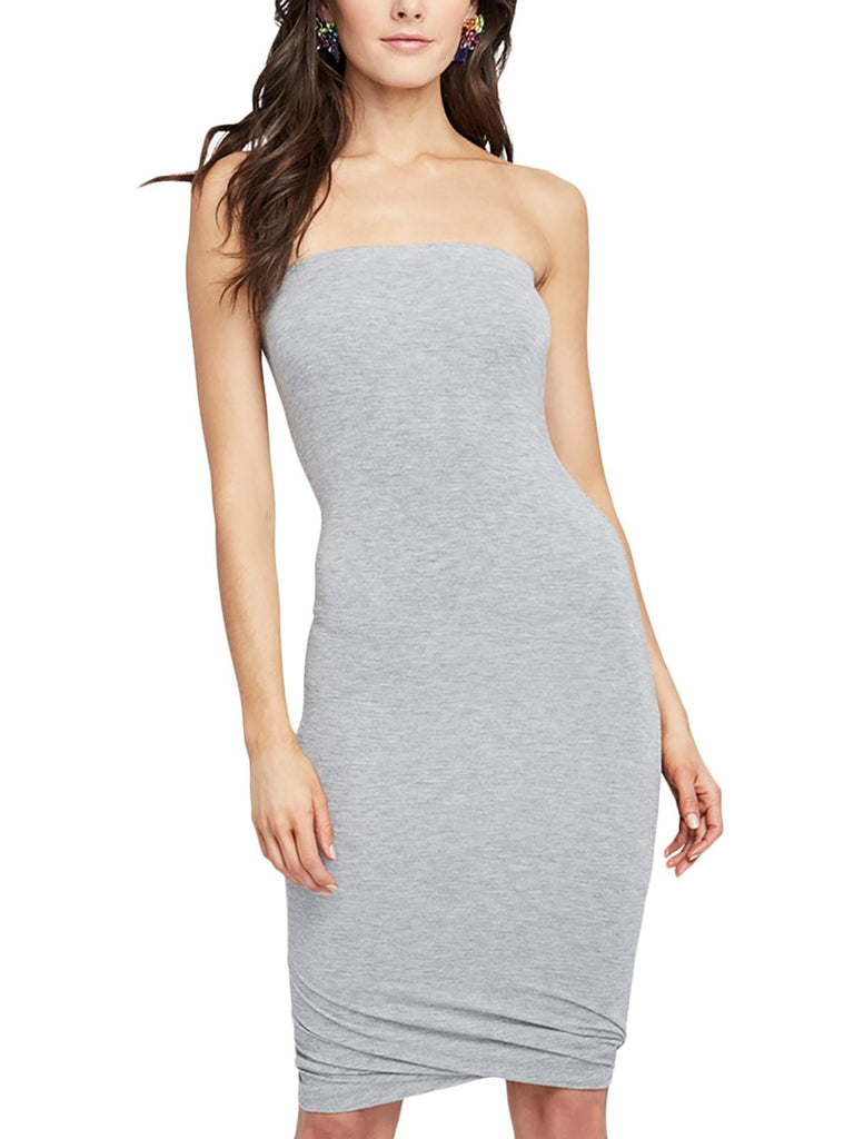 Yieldings Discount Clothing Store's May Twisted Tube Dress by RACHEL Rachel Roy in Heather Grey