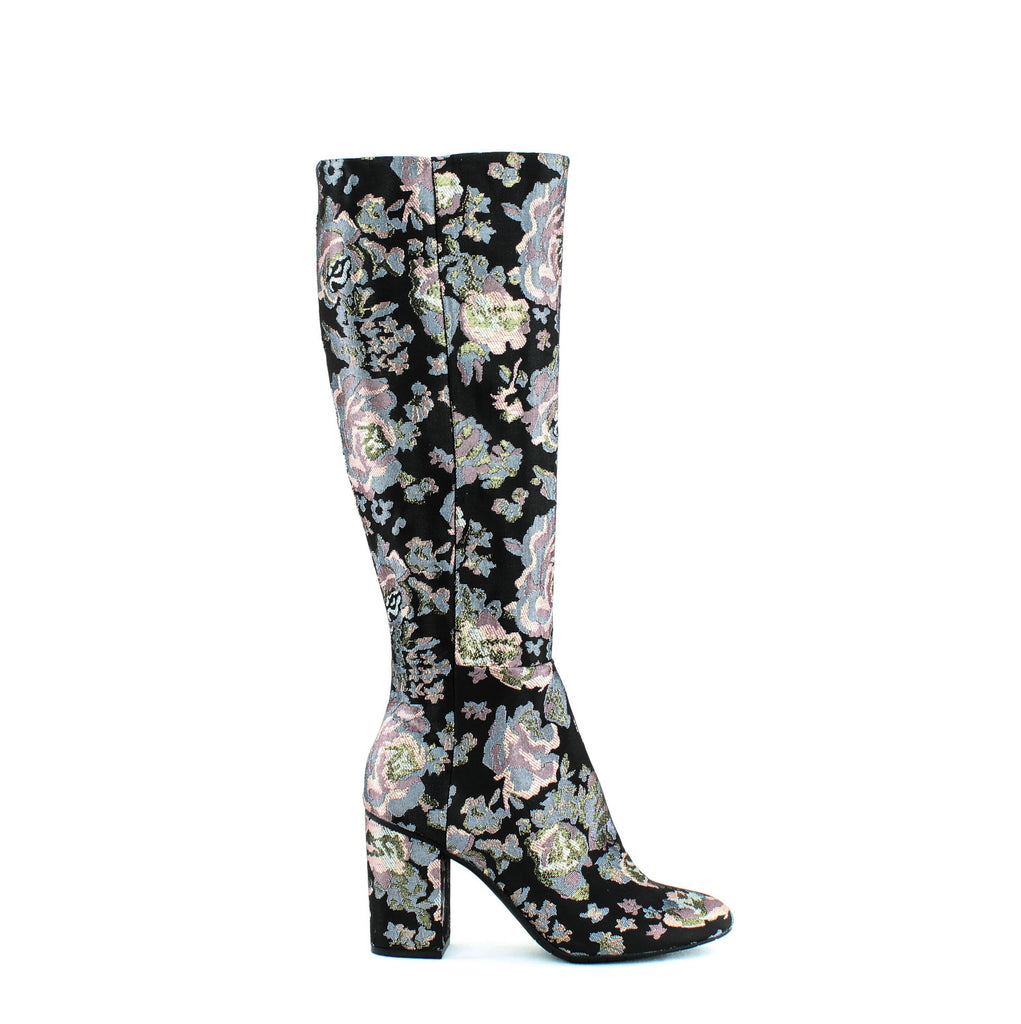 Yieldings Discount Shoes Store's Time to Step Knee-High Boots by Reaction Kenneth Cole in Black Multi