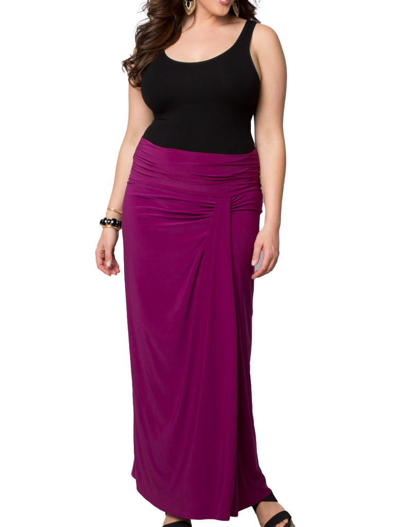 Yieldings Discount Clothing Store's Jetsetter Maxi Skirt by Kiyonna in ORC