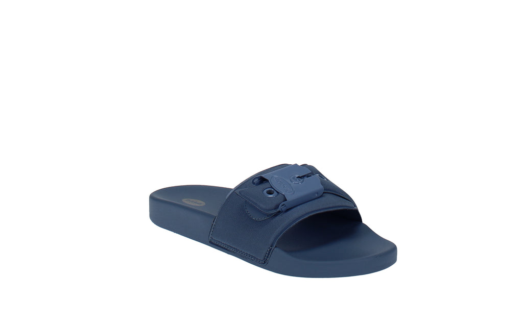 Yieldings Discount Shoes Store's OG Poolslides by Dr. Scholl's in Blue
