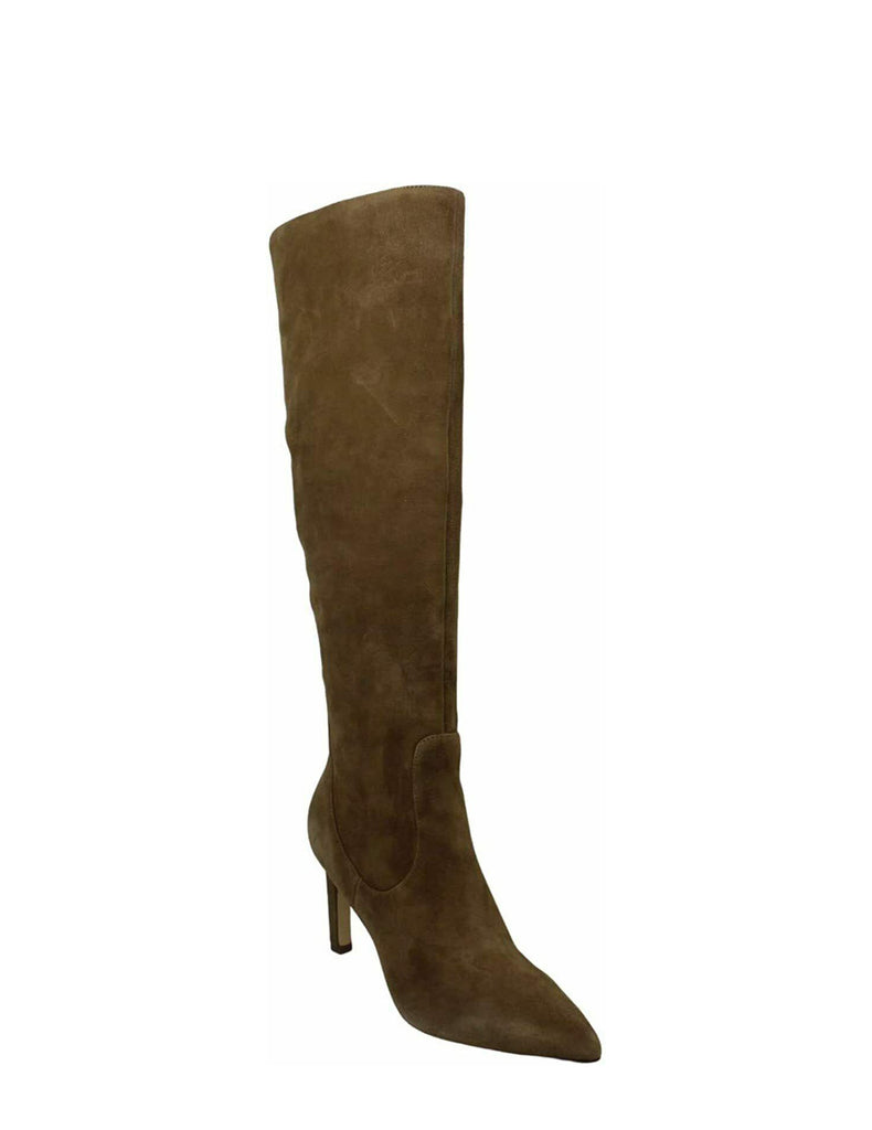 Yieldings Discount Shoes Store's Maxim Heeled Dress Boots by Nine West in Dark Natural