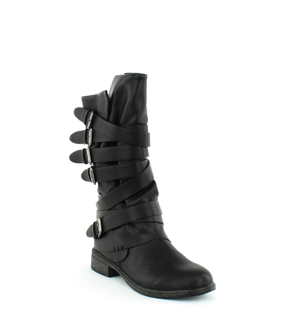 Yieldings Discount Shoes Store's Huck Mid Calf Boots by Report in Black