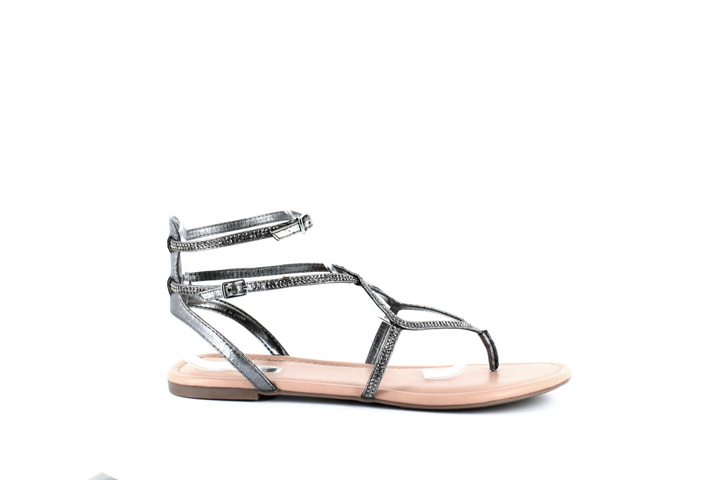 Yieldings Discount Shoes Store's Maconn Flat Sandals by INC in New Pewter