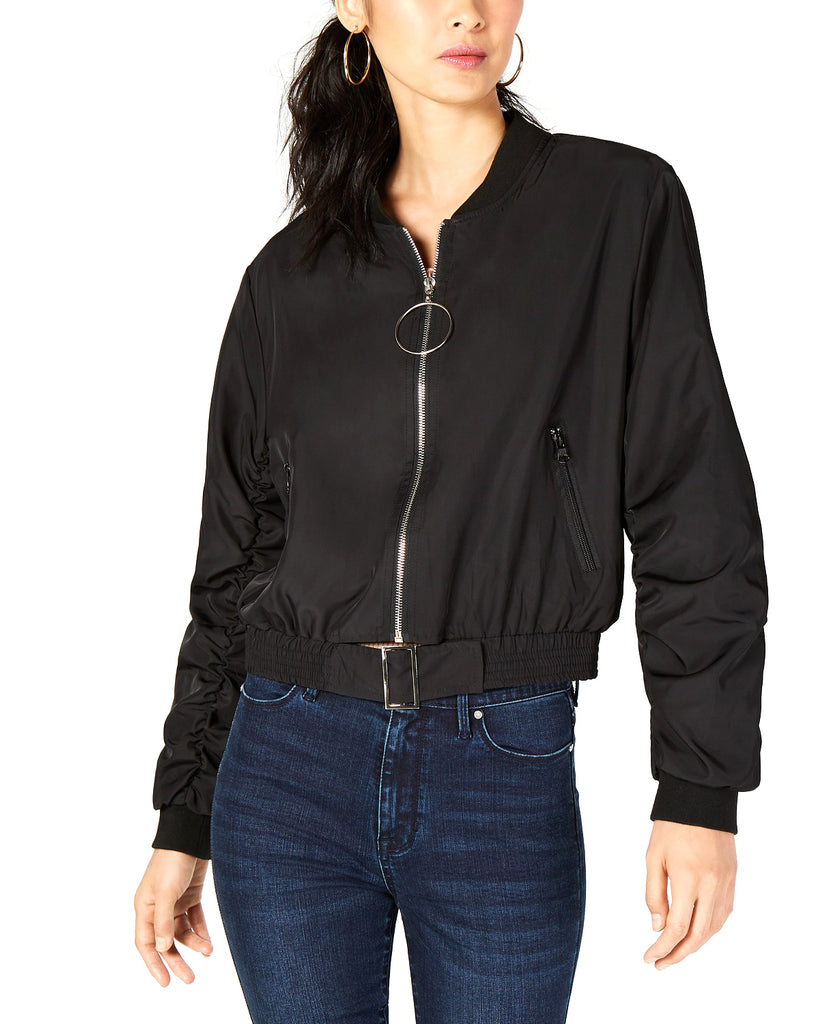 Yieldings Discount Clothing Store's Cropped Bomber by Sage the Label in Black