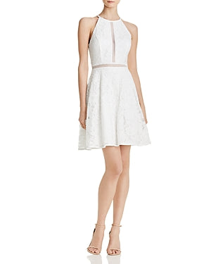Yieldings Discount Clothing Store's Lace Cocktail Dress by Aqua in Ivy