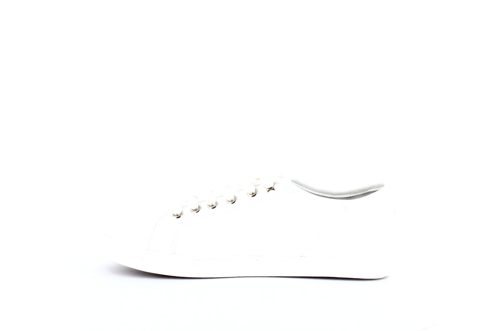 Yieldings Discount Shoes Store's Melina Lace-up Sneakers by American Rag Cie in White