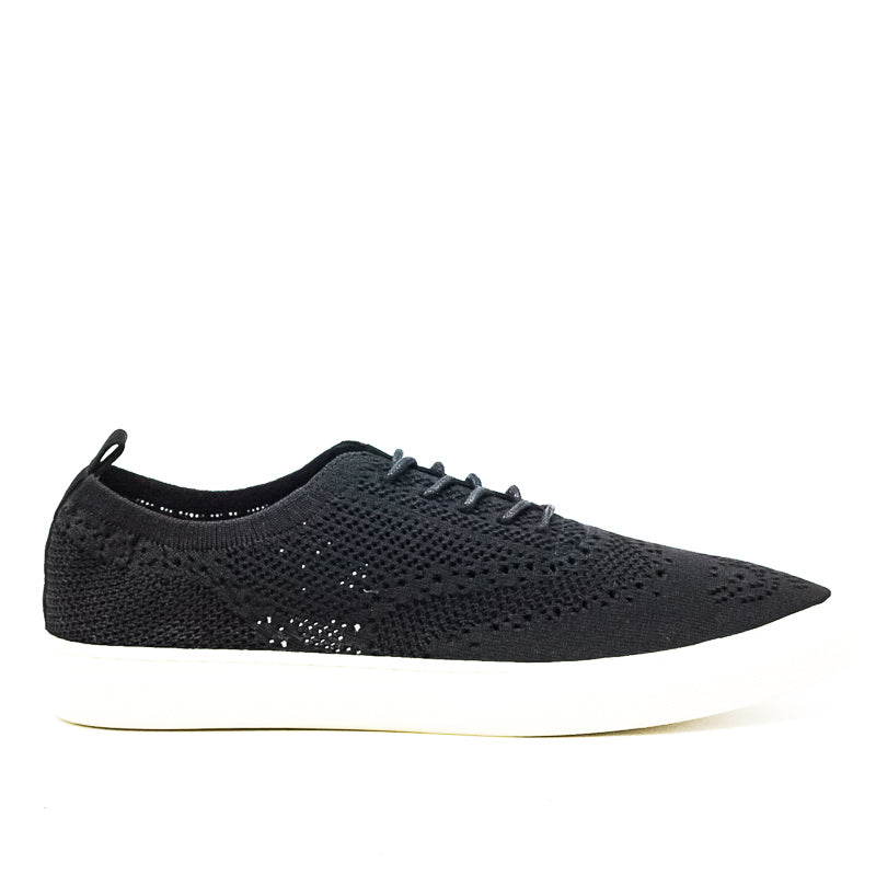 Yieldings Discount Shoes Store's Dionne Knit Fabric Slip-Ons by Seven Dials in Black
