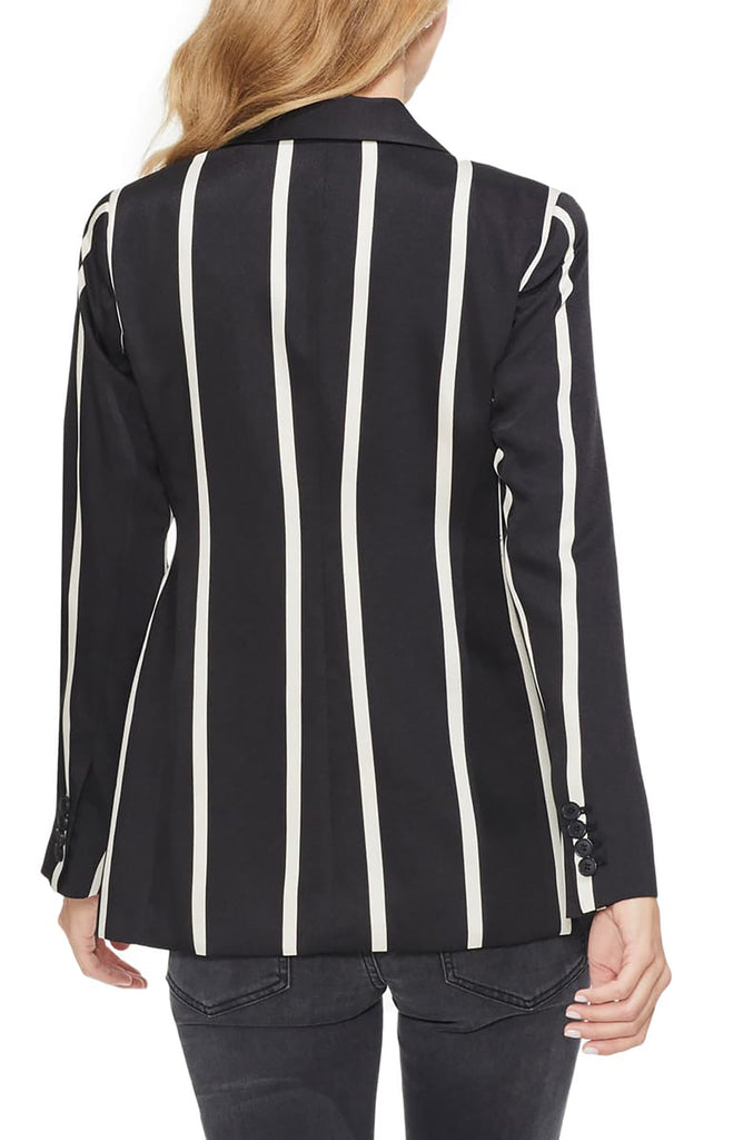 Vince Camuto | Dramatic Stripe Double Breasted Blazer