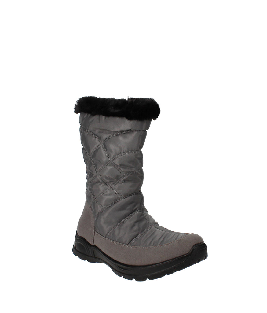Yieldings Discount Shoes Store's Cuddle Waterproof Boots by Easy Street in Grey