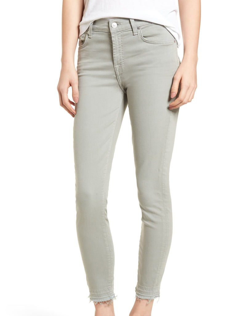 Yieldings Discount Clothing Store's The Ankle Skinny Pants by 7 For All Mankind in Agave
