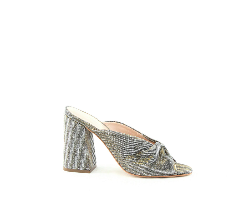 Yieldings Discount Shoes Store's Laurel Glitter High-Heel Sandals by Loeffler Randall in Pewter