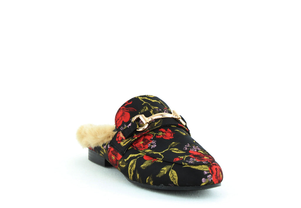 Yieldings Discount Shoes Store's Jill Slide On Flats by Steve Madden in Red Multi