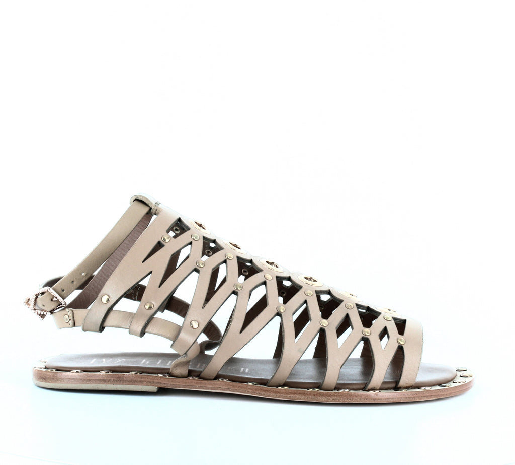 Yieldings Discount Shoes Store's Santorini Flat Sandals by Ivy Kirzhner in Caramel