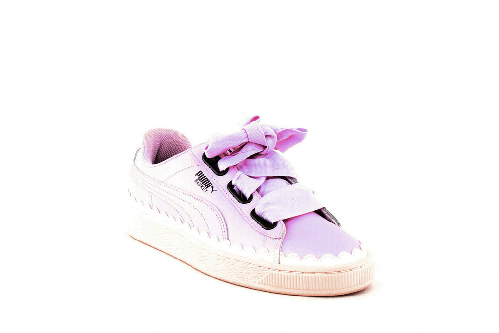 Yieldings Discount Shoes Store's Basket Heart Scallop Sneakers by Puma in Winsome Orchid