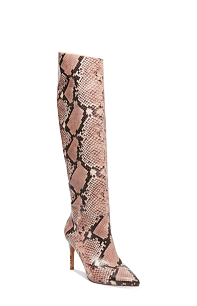 Yieldings Discount Shoes Store's Kimari Boots by Steve Madden in Pink Snake