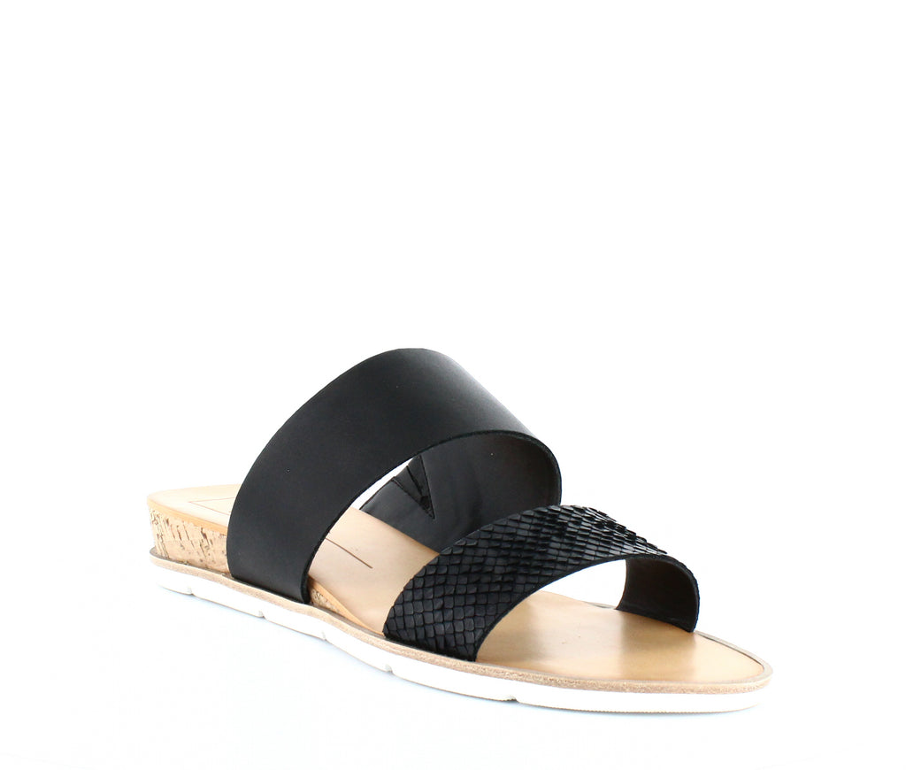 Yieldings Discount Shoes Store's Vala Wedge Slide Sandals by Dolce Vita in Black