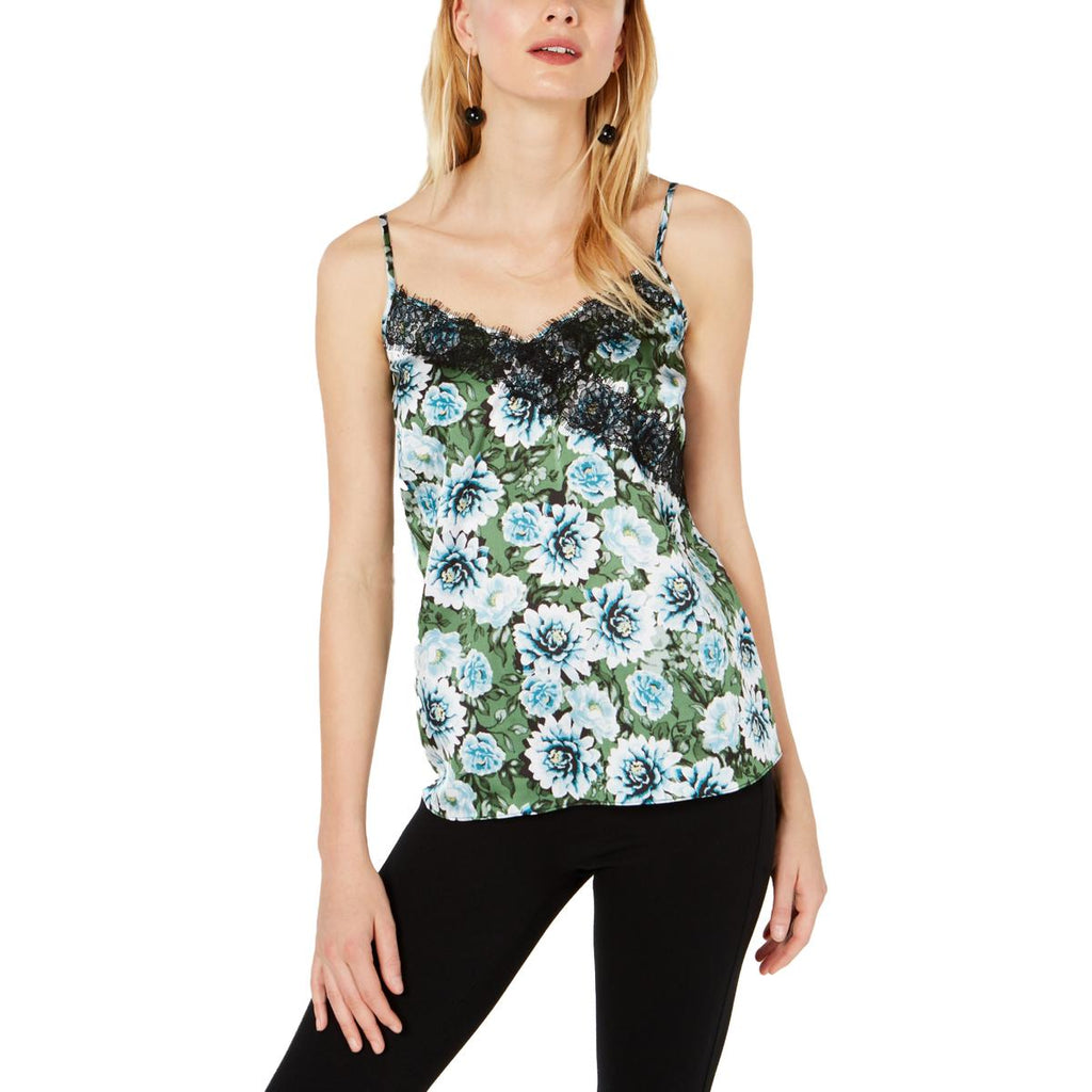 Yieldings Discount Clothing Store's Floral Lace Tank Top by INC in Floral Buds