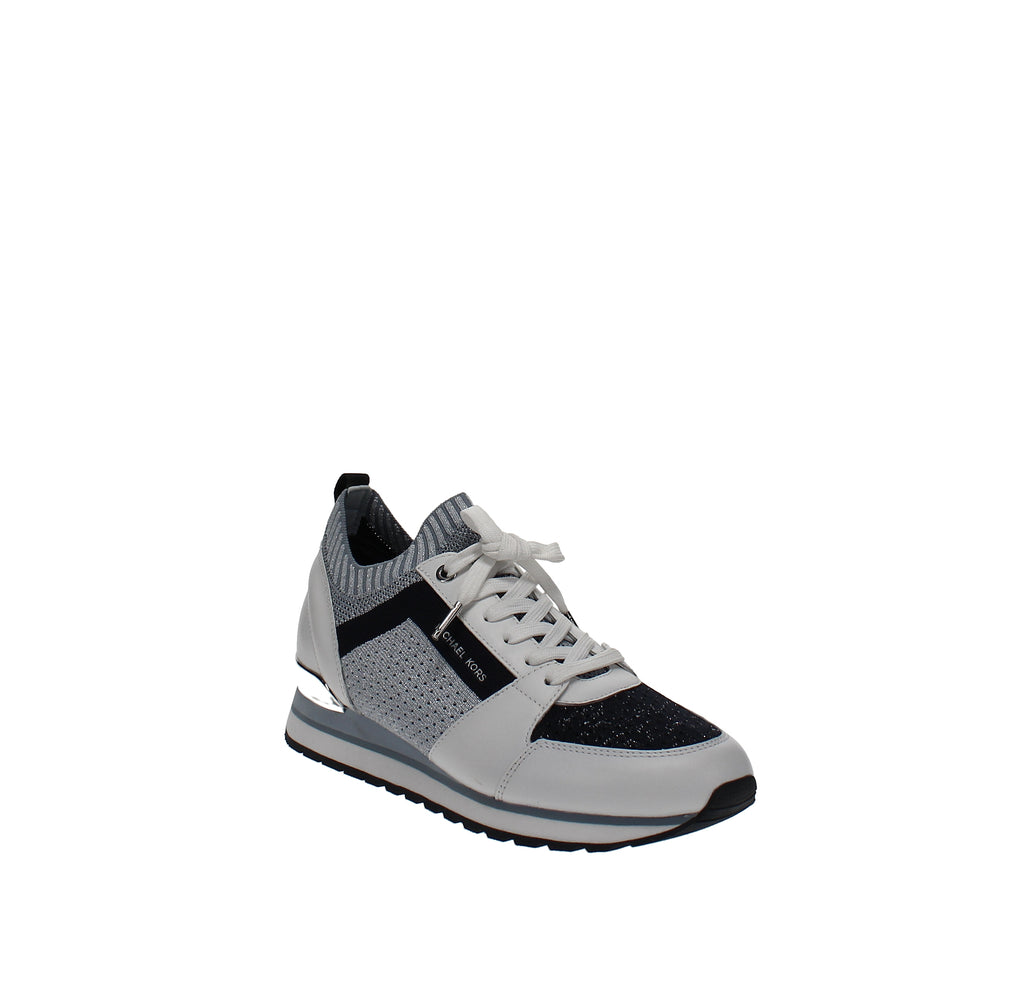 Yieldings Discount Shoes Store's Billie Knit Trainer by MICHAEL Michael Kors in Metallic Fabric