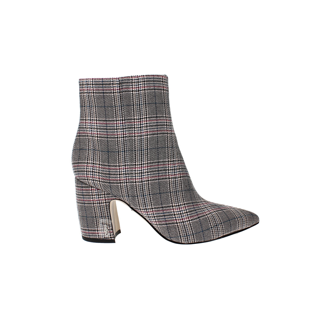 Yieldings Discount Shoes Store's Hilty 2 Ankle Booties by Sam Edelman in Black/Pink Plaid
