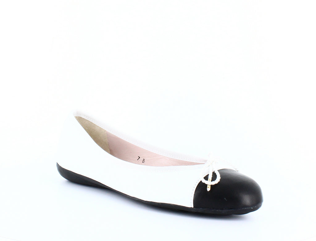 Yieldings Discount Shoes Store's Bravo Brighton Leather Ballet Flats by Paul Mayer Attitudes in Black/White