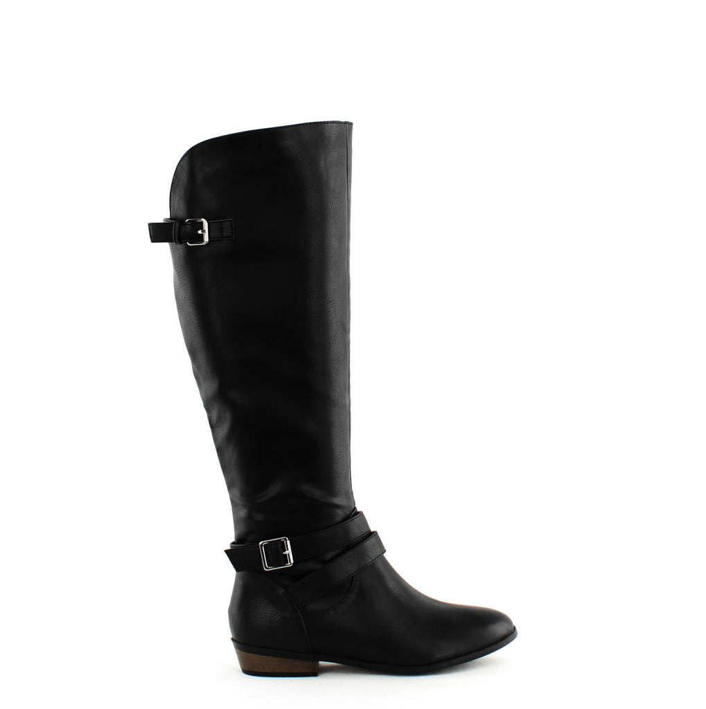 Yieldings Discount Shoes Store's Carleigh Riding Boots by Material Girl in Black