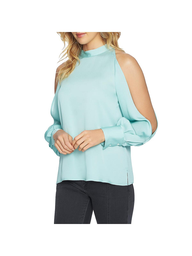 Yieldings Discount Clothing Store's Cold Shoulder Top by 1.State in Mint Leaf