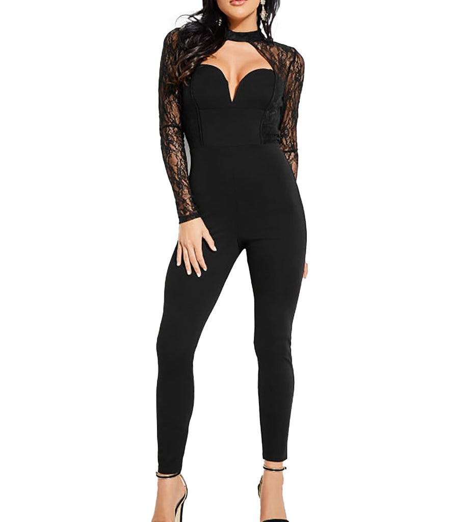 Guess | Angie Lace Long Sleeve Jumpsuit