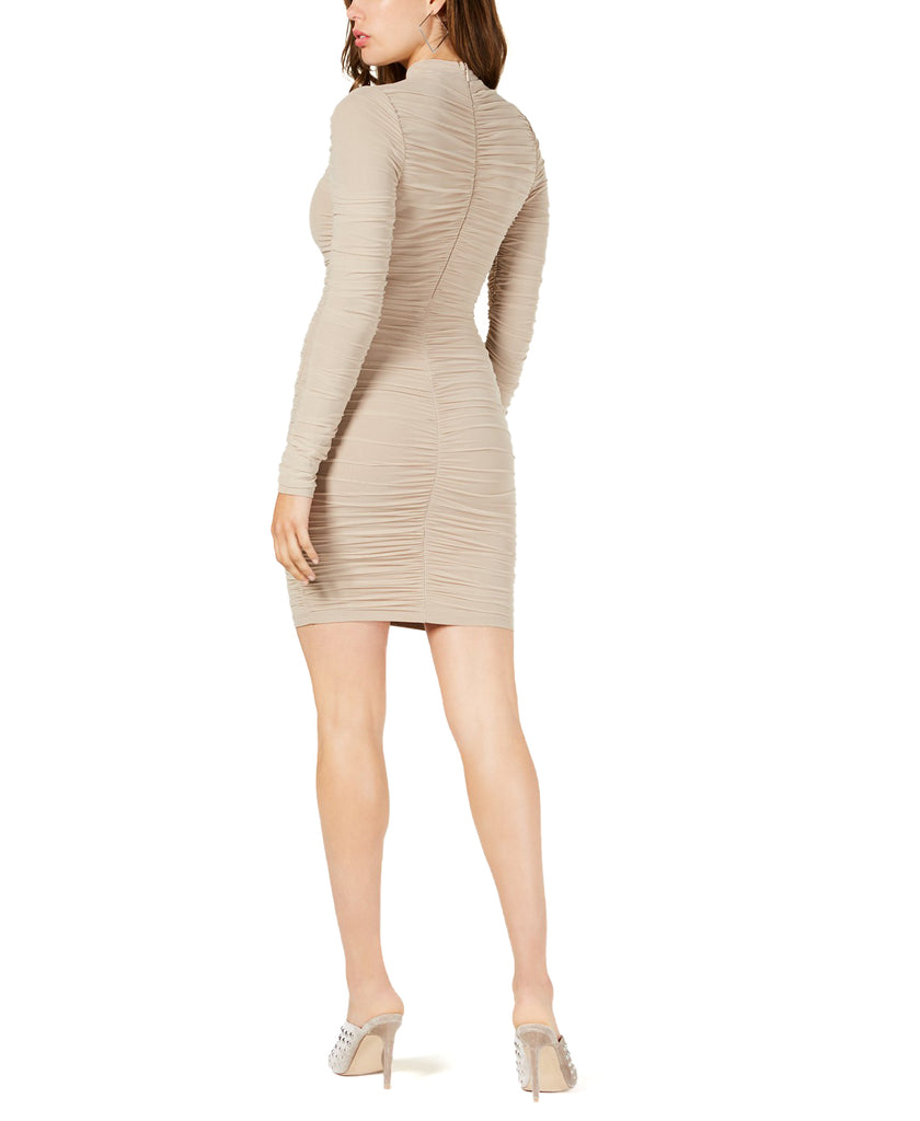 Yieldings Discount Clothing Store's Safira Dress by Guess in Gold Beige